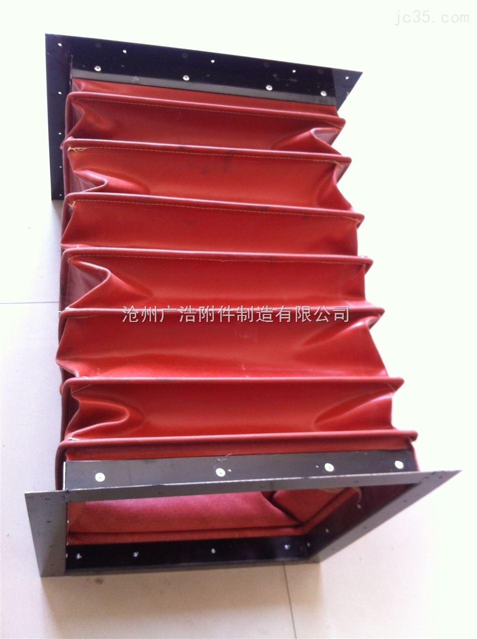方形红色硅胶布软连接新品上市