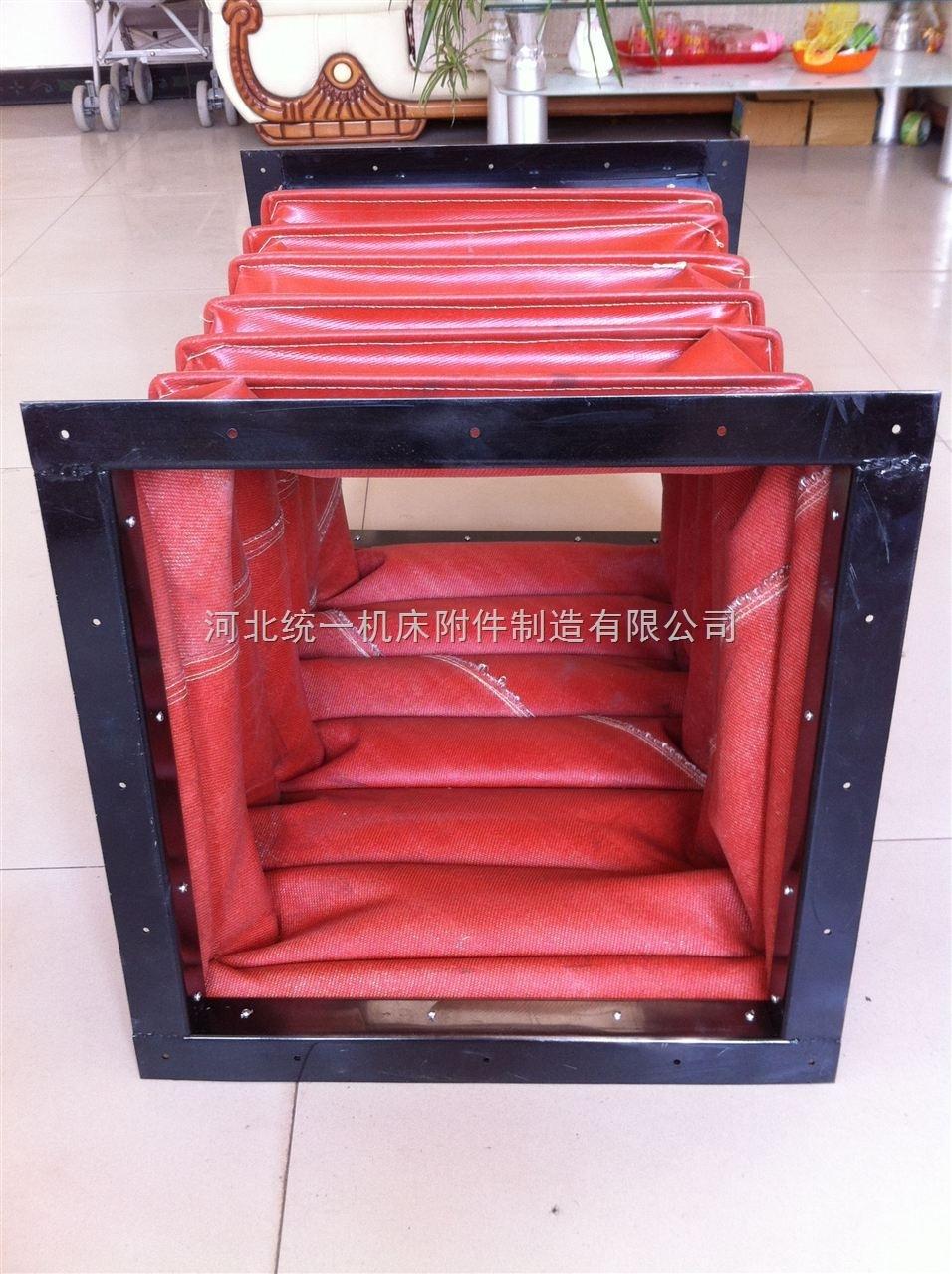 红色硅胶布耐温软连接规格