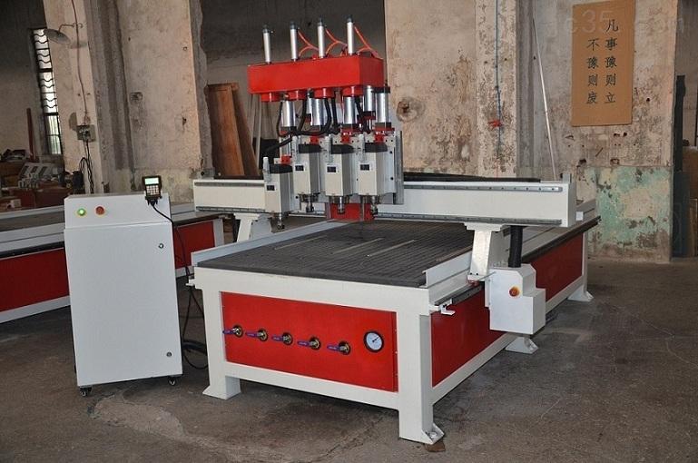 济南安格数控1325气动四工序自动换刀木工雕刻机