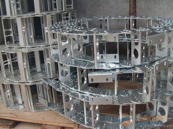 山西大型钢厂专用翻滚输送电缆穿线钢铝拖链 tlg95桥式能源钢铝拖链