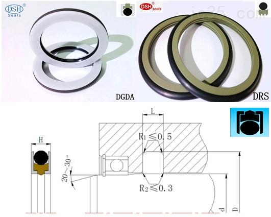 轴用旋转组合密封件DRDI|骨架油封|液压密封件