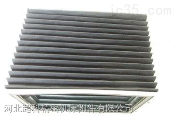 王信工业园液压升降机防护罩|导轨升降平台防护罩厂家