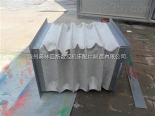 白色耐磨帆布风道伸缩软连接