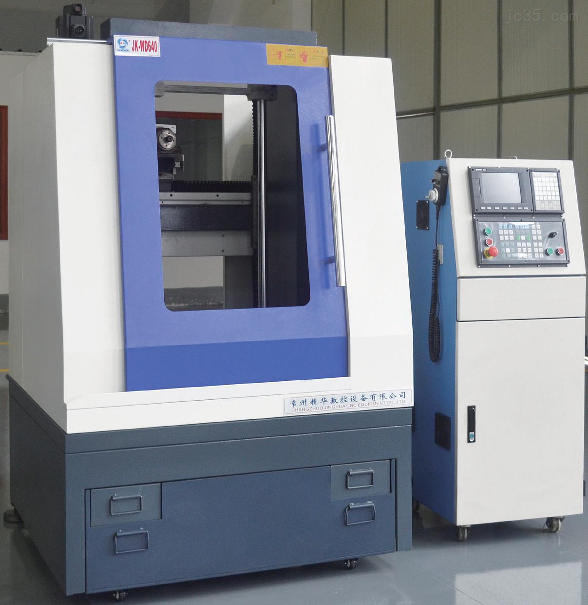 常州精科CNC卧式3D立雕机JK-WD640四轴联动高精度雕刻机