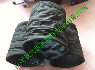 双层绿色帆布水泥散装伸缩布袋