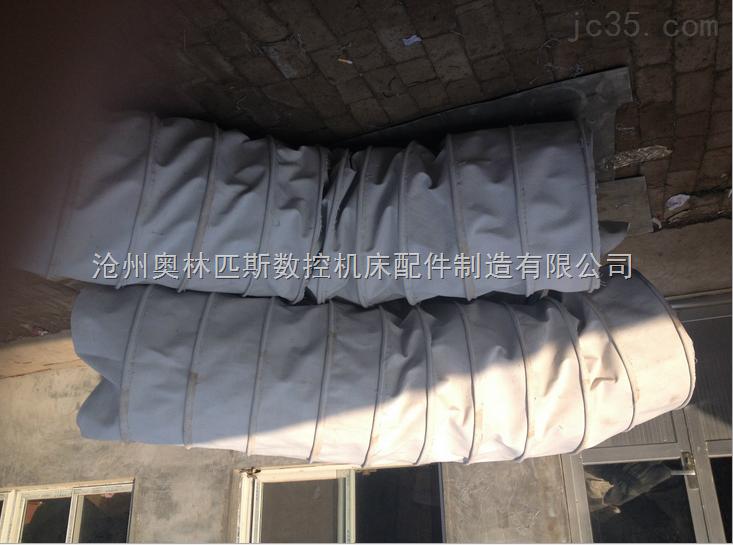 除尘设备下料口帆布伸缩布袋软连接,耐磨耐用