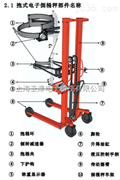 【供应】电子倒桶秤食品车间倒料150kg手动倒桶秤500kg
