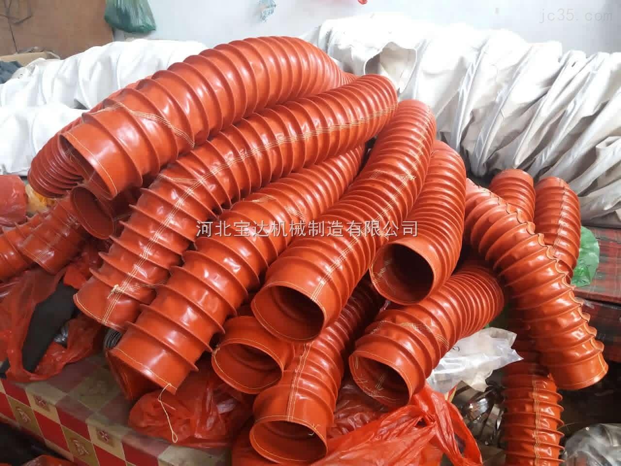 通风专用耐温耐腐蚀硅胶伸缩软连接