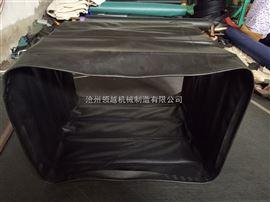 耐温帆布方形风道口通风伸缩软连接供应