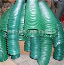 西安蓝箭耐高温、耐拉伸、防尘防铁屑圆筒丝杠防护罩
