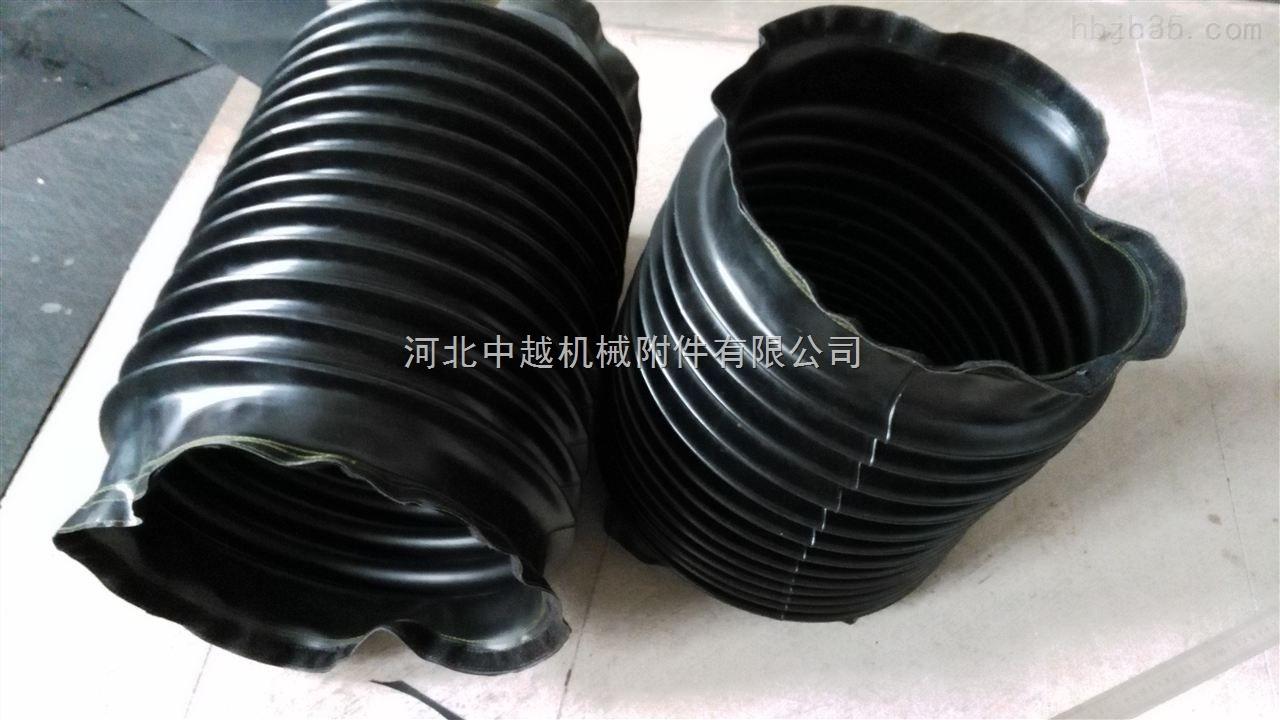 耐拉伸阻燃橡胶圆形伸缩油缸防尘罩