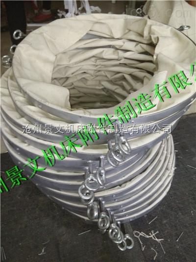 水泥厂吊环式耐磨帆布除尘输送布袋厂家加工