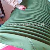 辽宁耐磨损绿色帆布丝杠防护罩