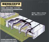 钢板防护罩850/1060加工中心机床伸缩导轨护板不锈钢板防护罩伸缩式钢板防护罩