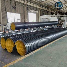 供应DN600聚乙烯钢带螺旋波纹管道