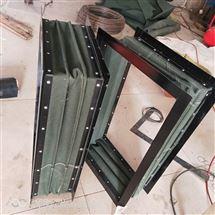 西安耐温帆布通风口伸缩软连接厂家生产