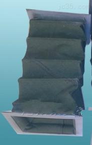 矩形法兰帆布风道口软连接价格