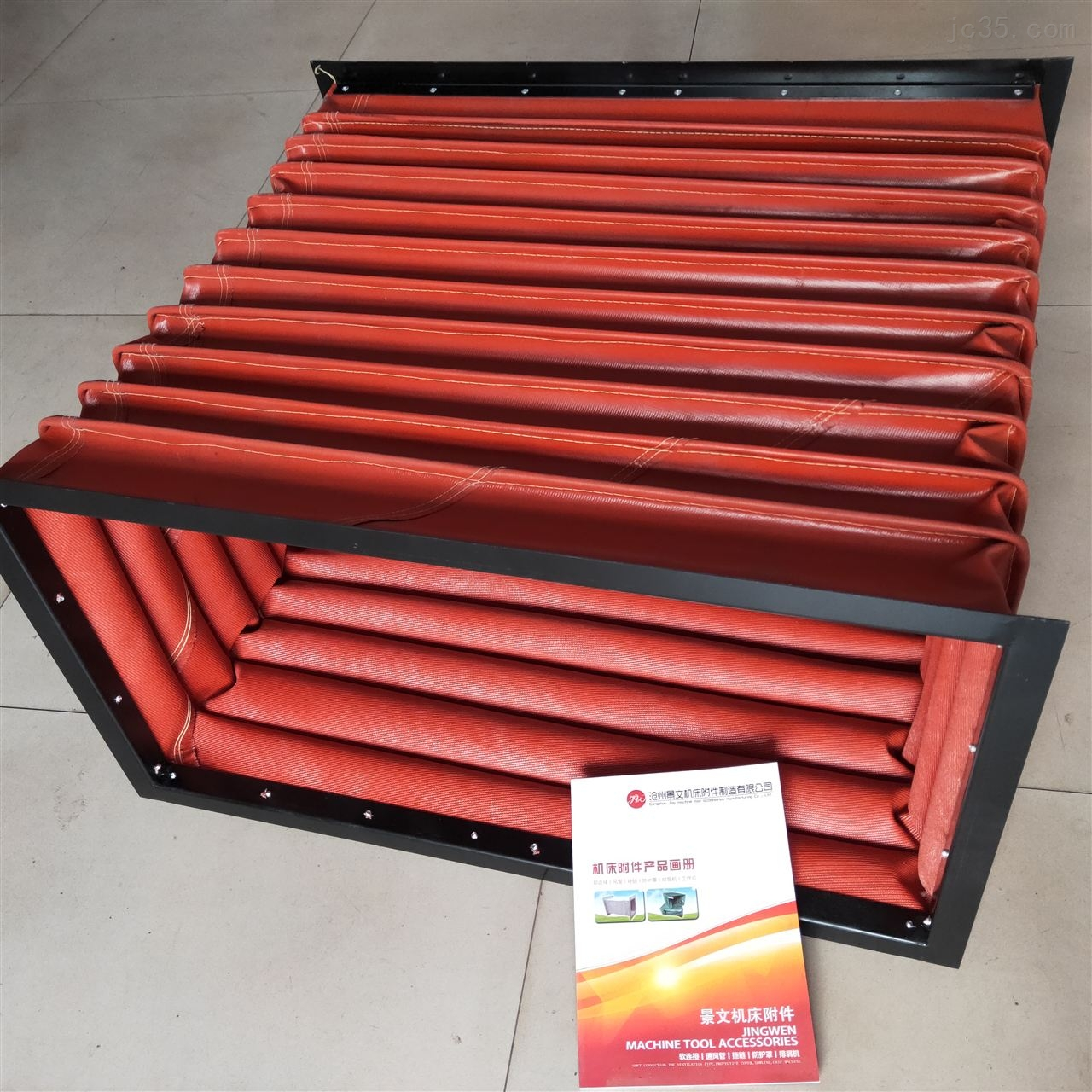 耐温400度红色硅胶布防火软连接价格