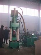 新疆鑫源鋁屑壓塊機A通過高壓直接冷壓成型