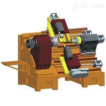 双主轴双刀塔车削中心光机
