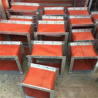 厂家生产矩形耐高温伸缩通风软连接