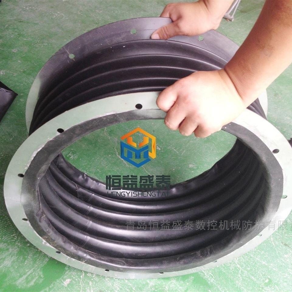油缸气缸红色硅胶丝杠防护罩青岛厂家