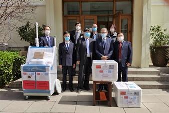 华中数控向希腊共和国捐赠HY-2005B红外智能体温检测系统