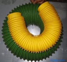 绿色帆布风道口软连接产品图