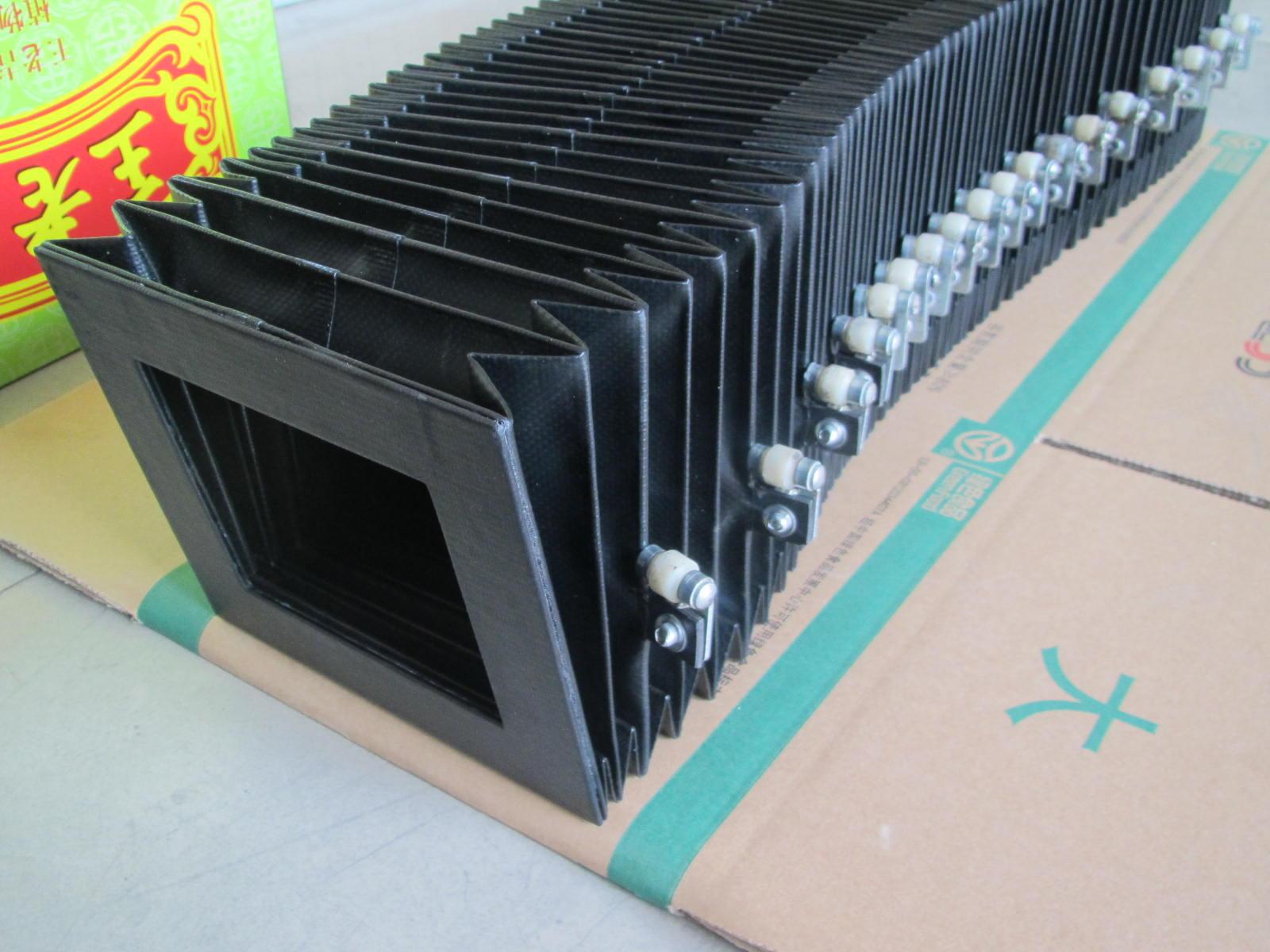 钢板骨架风琴防护罩,方形防火风琴防尘罩厂家